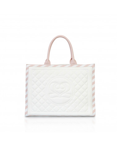Cora Shopper WHITE&ROSE
