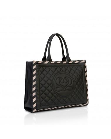 Cora Shopper BLACK&SAND